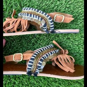 Cute Leather Fringe Boho Sandals From Barneys